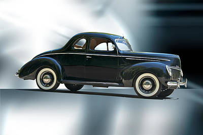 1940 Ford 'deluxe' Coupe Print by Dave Koontz