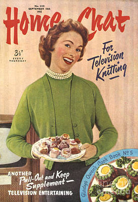 1950s Uk Home Chat Magazine Cover Print by The Advertising Archives