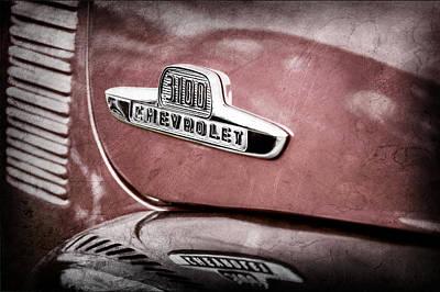 1955 Chevrolet 3100 Pickup Truck Emblem Print by Jill Reger