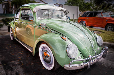 1962 Volkswagen Beetle Vw Bug  Print by Rich Franco