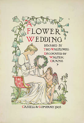 Gods And Goddesses Photograph - A Flower Wedding by British Library