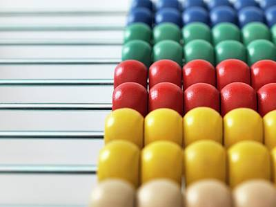 Bright Colours Photograph - Abacus by Tek Image