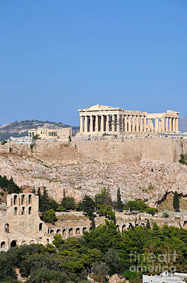 Ancient Photograph - Acropolis Of Athens by George Atsametakis