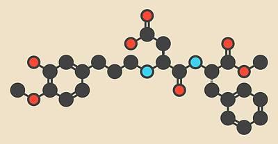 Stylized Beverage Photograph - Advantame Sugar Substitute Molecule by Molekuul