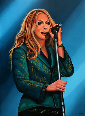 Anouk Painting Print by Paul Meijering