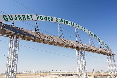 Asia's Largest Solar Power Station Print by Ashley Cooper