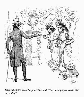Beaver Drawing - Austen Pride & Prejudice by Granger