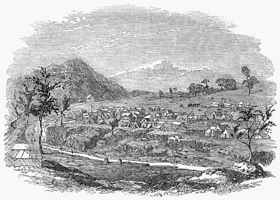 Gold Rush Painting - Australian Gold Rush, 1853 by Granger