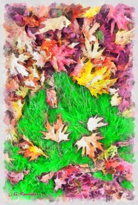 Greek Painting - Autumn Leaves by George Rossidis