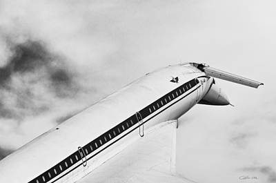 Russian Icon Photograph - Aviation Icons - Supersonic Airliner Tupolev Tu-144 In Black And White by Colin Utz