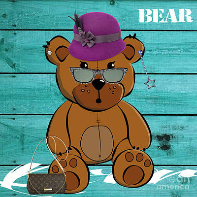 Jungle Mixed Media - Baby Bear Collection by Marvin Blaine