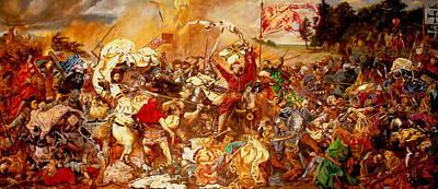 Loser Painting - Battle Of Grunwald by Henryk Gorecki