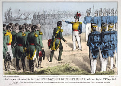 Mesoamerican Painting - Battle Of Monterrey, 1846 by Granger
