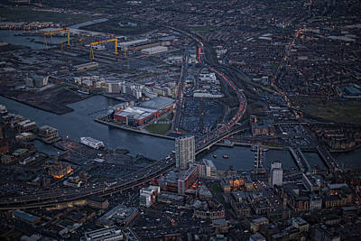 Belfast At Night, Northern Ireland Print by Colin Bailie