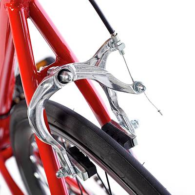 Bicycle Brakes Print by Science Photo Library