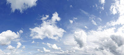 Cumulus Photograph - Big Blue Sky by Les Cunliffe