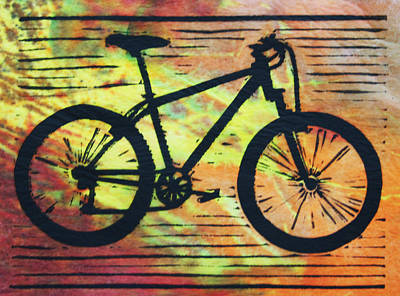 Austin Drawing - Bike 10 by William Cauthern