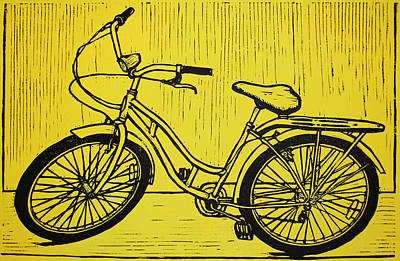Austin Drawing - Bike 5 by William Cauthern
