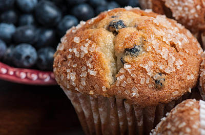 Blueberry Muffins Print by Brandon Bourdages