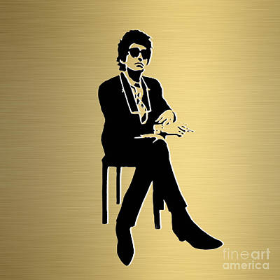 Bob Dylan Gold Series Print by Marvin Blaine