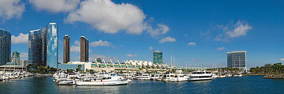 Marina Park Photograph - Buildings In A City, San Diego by Panoramic Images