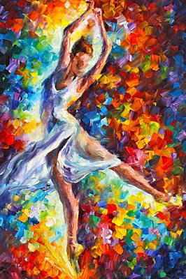 Ballet Painting - Candle Fire by Leonid Afremov
