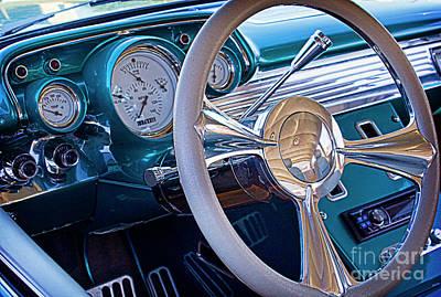 Interior Decoration Photograph - Chevy 1957 Bel Air by Elena Nosyreva