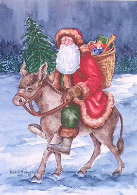 Christmas Woodland Series Print by Barbel Amos