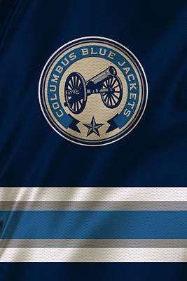 Hockey Photograph - Columbus Blue Jackets Uniform by Joe Hamilton