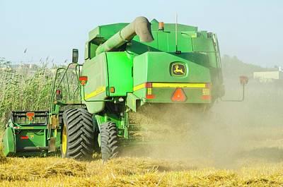Combine Harvester Print by Photostock-israel