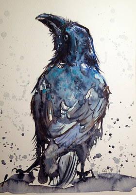 Crow Print by Kovacs Anna Brigitta