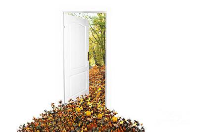 Door To New World Print by Michal Bednarek