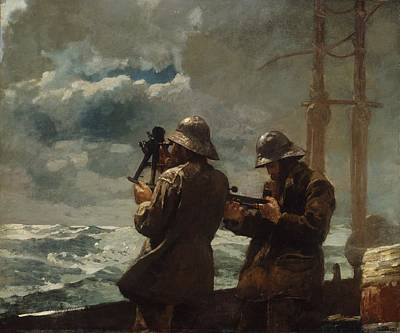 Fisherman Painting - Eight Bells by Celestial Images