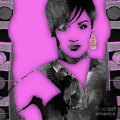 Pop Mixed Media - Empire's Grace Gealey Anika Gibbons by Marvin Blaine