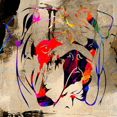 English Bulldog Print by Marvin Blaine