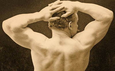 Ripped Photograph - Eugen Sandow by George Steckel