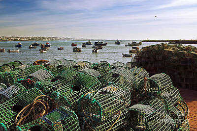 Fishing Traps Print by Carlos Caetano