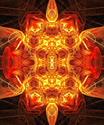 Fractal Kaleidoscope  Print by Gina Lee Manley