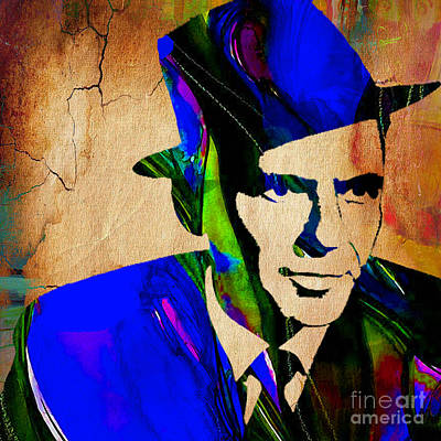 Frank Sinatra Painting Print by Marvin Blaine