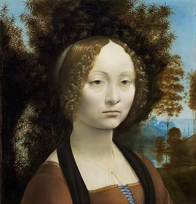 Baptism Painting - Ginevra De' Benci by Leonardo Da Vinci