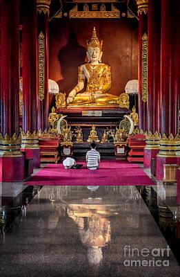 Golden Buddha Print by Adrian Evans
