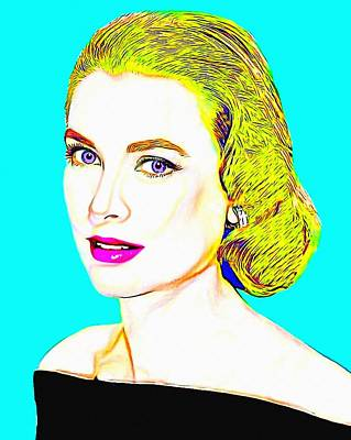 Grace Kelly Digital Art - Grace Kelly by Art Cinema Gallery