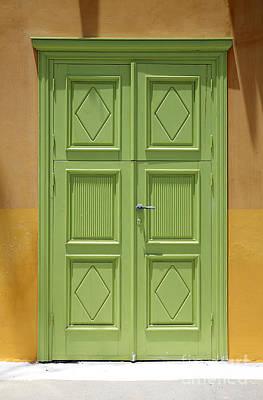 Greek Door Print by Neil Overy