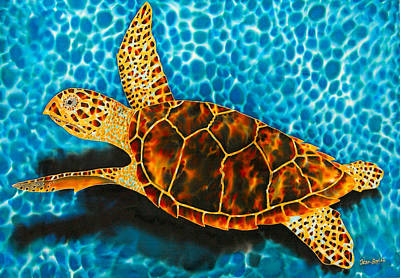 Sea Turtles Tapestry - Textile - Green Sea Turtle by Daniel Jean-Baptiste