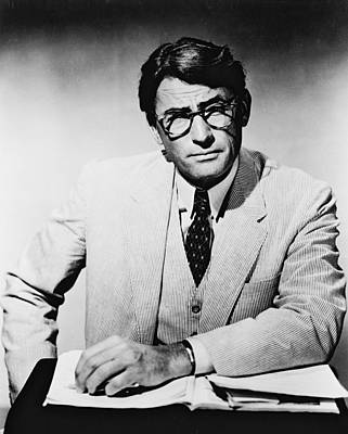 Mockingbird Photograph - Gregory Peck In To Kill A Mockingbird  by Silver Screen