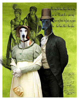 Greyhound Painting - Greyhound Art Canvas Print by Sandra Sij