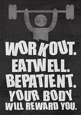 Gym Motivational Quotes Poster Print by Lab No 4 - The Quotography Department