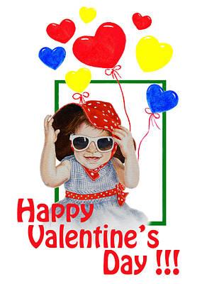 Note Painting - Happy Valentines Day by Irina Sztukowski