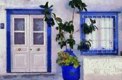 Door Painting - Hydra Island by George Atsametakis