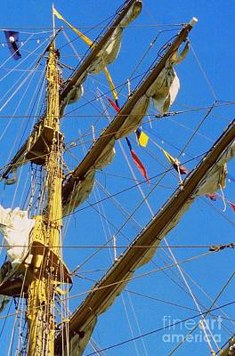I Thought I Saw Three Sailing Ships Three Sailing Ships Early In The Morn N Print by Michael Hoard